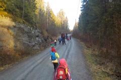 På vei opp til Sæteren gård 09.12