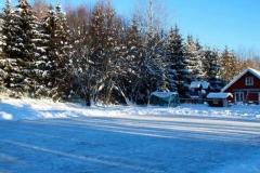 Vinter med egen skøytebane
